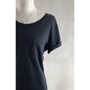 AEO Dark Gray Roll Up Sleeve Favorite Tee Sz M
